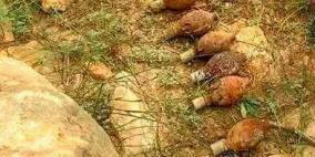 الشرطة تتلف 8 قنابل يدويه قديمة في طولكرم