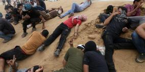 """محدث- 1143 اصابة على حدود غزة في """"جمعة عمال فلسطين"""""""