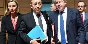 وزراء خارجية فرنسا والمانيا وبريطانيا يلتقون مسؤولين ايرانيين