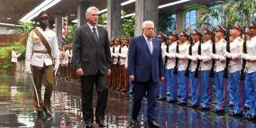 جلسة مباحثات رسمية بين الرئيس ونظيره الكوبي