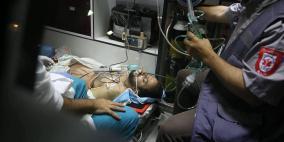 نقل الصحفي المصاب ياسر قديح لمستشفى المقاصد بالقدس