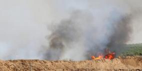 النيران تشتعل في حقول الاحتلال بفعل الطائرات الورقية