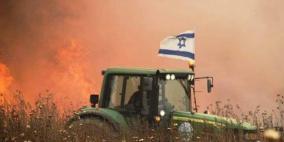 اندلاع حرائق في غلاف غزة بفعل طائرات ورقية