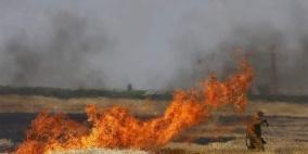 حرائق جديدة في مواقع اسرائيلية على حدود غزة