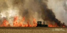 بفعل طائرات ورقية..  حرائق ضخمة على طول الحدود مع غزة
