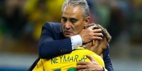 """مدرب البرازيل يلمح لغياب """"نيمار"""" أمام سويسرا"""