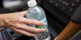 زجاجة ماء تتسبب بحرق سيارة