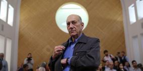 """أولمرت """"نادم"""" لعدم إخراج حماس من السلطة"""
