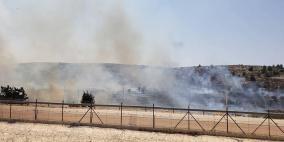 فيديو- مستوطنون يحرقون 120 دونما غرب رام الله