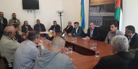 """وقفة في أوكرانيا دعما للقيادة في مواجهة """"صفقة القرن"""""""