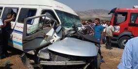 12 إصابة في حادث سير جنوب أريحا
