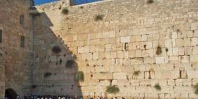 انهيار صخري في سور الأقصى نتيجة الحفريات الإسرائيلية