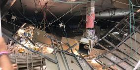 فيديو: انهيارأرضي لقاعة أفراح