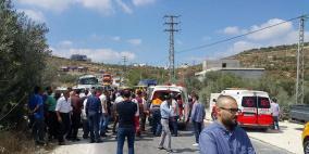 صور: وفاة مواطنة وإصابة 3 آخرين في حادث سير غرب نابلس