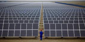 استكمال بناء أكبر حقل طاقة شمسية في قطاع غزة