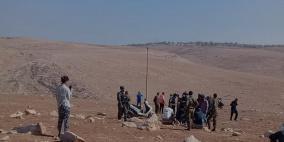 مستوطنون يهاجمون تجمعاً بدوياً شرق رام الله