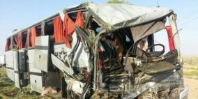 مقتل 8 أشخاص في تصادم حافلتين بمصر