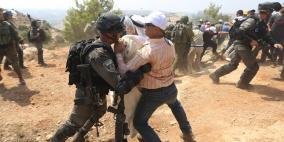 اصابات خلال اعتداء الاحتلال على المصلين في رأس كركر