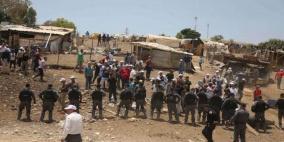 مستوطنون يحاولون اقتحام قرية الخان الاحمر
