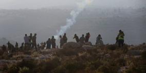 إصابات خلال قمع الاحتلال الاعتصام الأسبوعي في رأس كركر