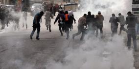 قوات الاحتلال تقمع مسيرة بلعين الأسبوعية