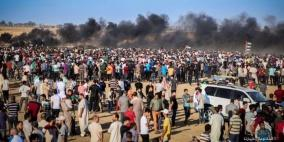 الالاف يشيعون جثامين شهداء جمعة كسر الحصار في غزة