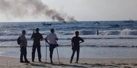 إصابات خلال قمع الاحتلال مسيرة بحرية شمال غزة