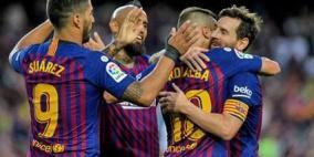ميسي يقود برشلونة لاكتساح ايندهوفن في افتتاح دوري ابطال اوروبا
