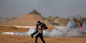130 اصابة خلال قمع الاحتلال مسيرات العودة شرق غزة