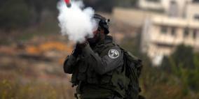 قنابل الاحتلال تحرق مزرعة في سبسطية
