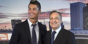 بيريز يكيل المديح لأساطير ريال مدريد رونالدو وزيدان