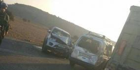 اصابات بحادث تصادم بين 3 مركبات جنوب جنين