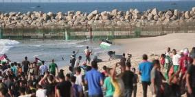 93 إصابة.. الاحتلال يهاجم المسير البحري العاشر في غزة