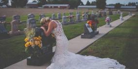 """بصورة """"مؤلمة"""".. هكذا عبرت عروس عن حزنها لفراق خطيبها"""