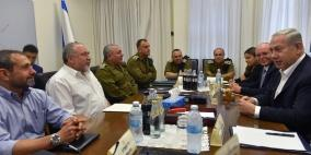 """""""الكابينت"""" يُمهل حماس حتى نهاية الأسبوع للتهدئة"""