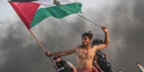صورة متظاهر في غزة تنتشر عالميًا