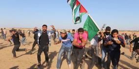 32 اصابة برصاص الاحتلال على حدود قطاع غزة