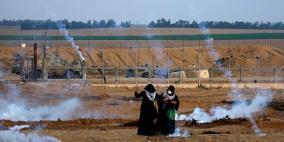 37 اصابة بالرصاص الحي على حدود غزة