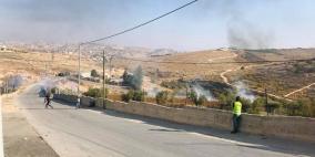 مواجهات عنيفة مع قوات الاحتلال في تقوع