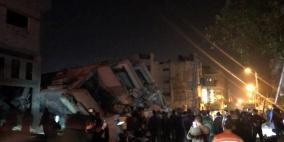 طائرات الاحتلال  تدمر مبنى فضائية الأقصى