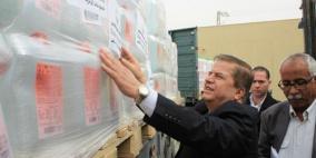 بتعليمات من الرئيس- تسيير قافلة أدوية إلى قطاع غزة