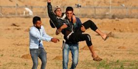 40 اصابة برصاص الاحتلال على حدود غزة