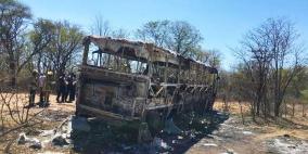 زيمبابوي: عشرات القتلى جراء حريق داخل حافلة