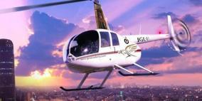 """بالفيديو- """"التكسي الطائر"""" يحلق في سماء العاصمة الأردنية"""