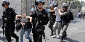 الاحتلال يعتقل 4 مواطنين بتهمة إصابة جندي بالقدس