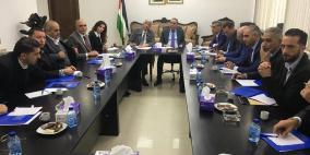 وزير الشؤون المدنية يجتمع بالاتحاد العام للصناعات الفلسطينية.