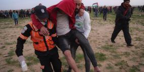 33 اصابة برصاص الاحتلال على حدود القطاع