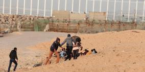 بينهم مسعف.. إصابات خلال الاعتداء على المسير البحري