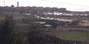 الاحتلال يشرع بتشديدات أمنية حول دوار جبع
