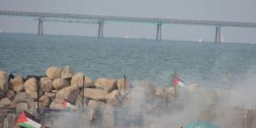 إصابات برصاص الاحتلال في المسير البحري الـ20